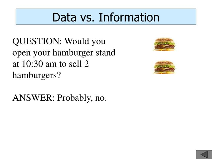 Data vs. Information