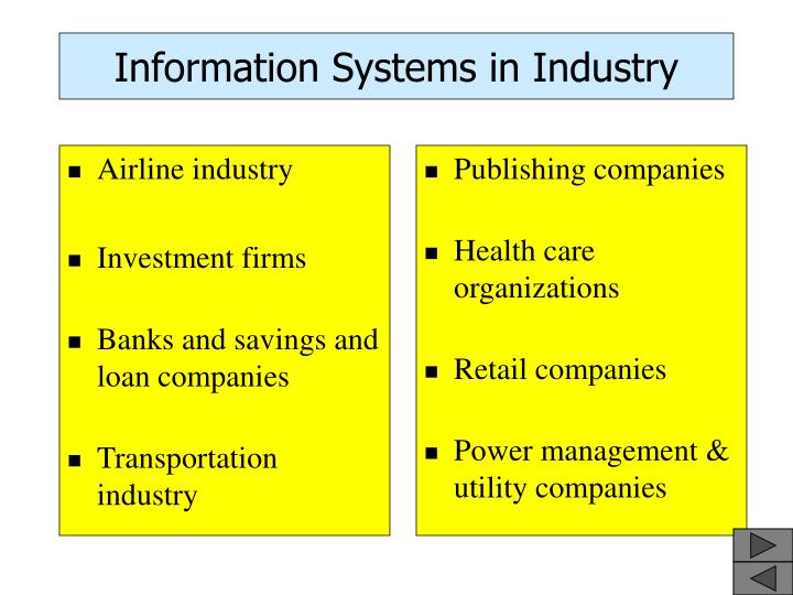 Information Systems in Industry