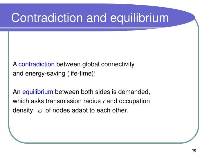 Contradiction and equilibrium