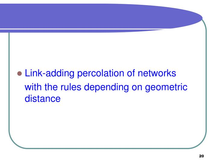 Link-adding percolation of networks