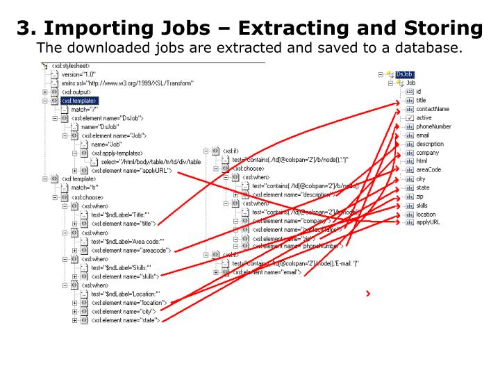 3. Importing Jobs – Extracting and Storing