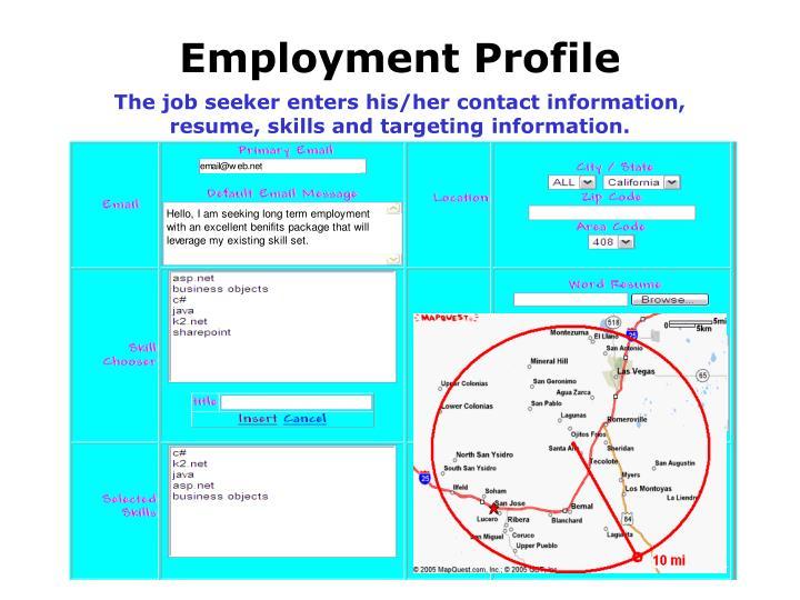 Employment Profile