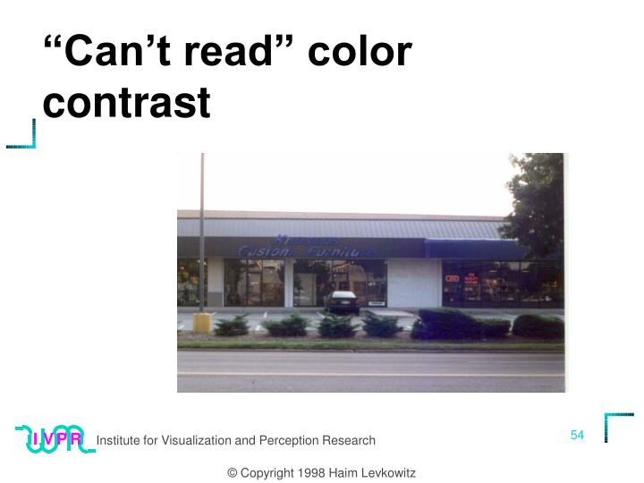 """Can't read"" color contrast"