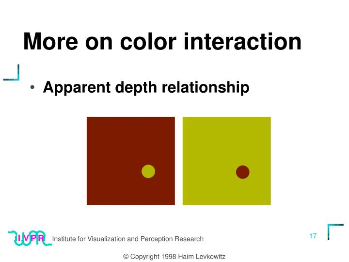 More on color interaction