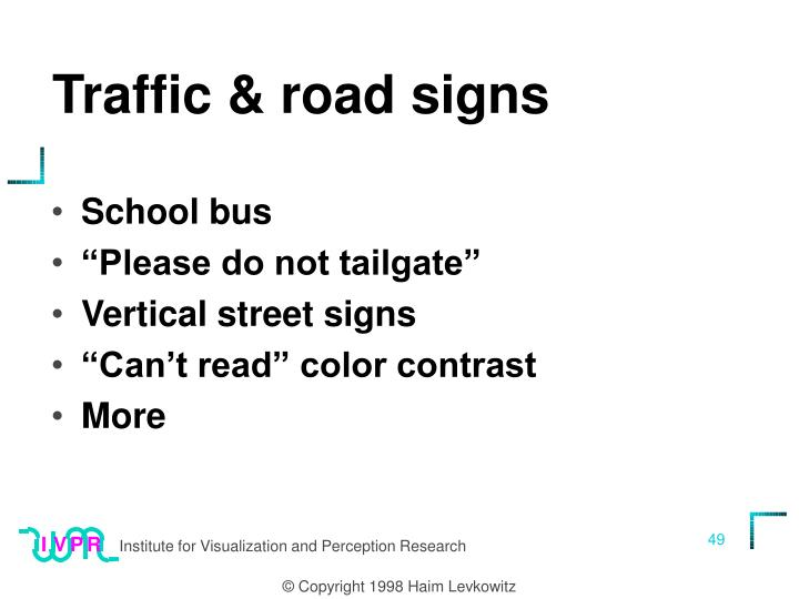Traffic & road signs
