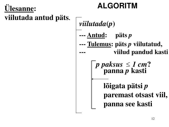 ALGORITM