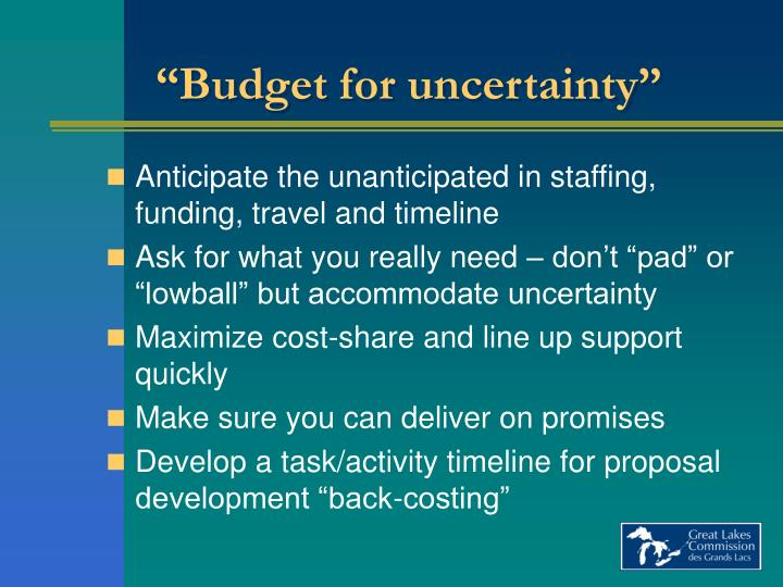 """Budget for uncertainty"""