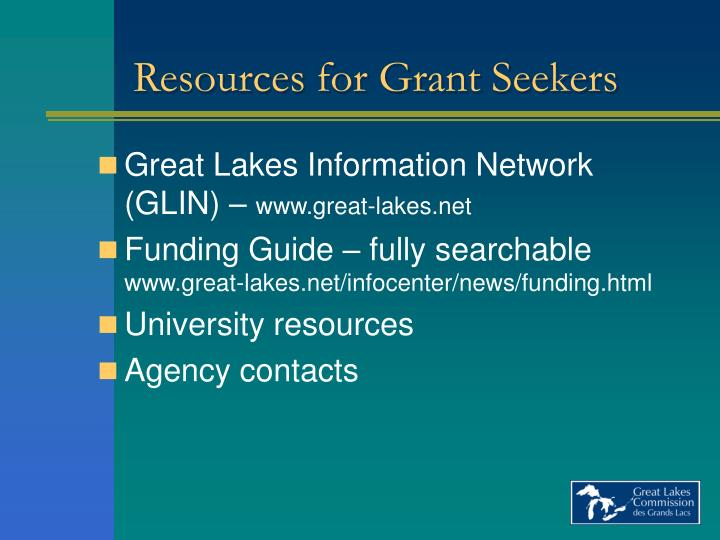 Resources for Grant Seekers