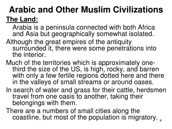 Arabic and Other Muslim Civilizations