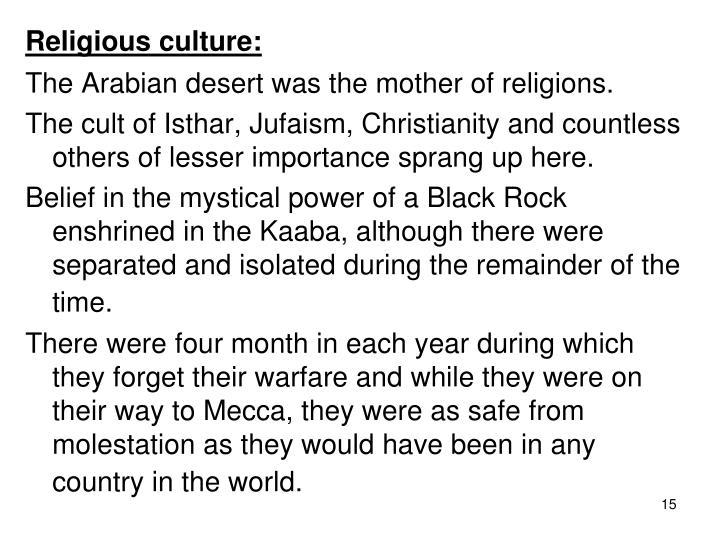 Religious culture:
