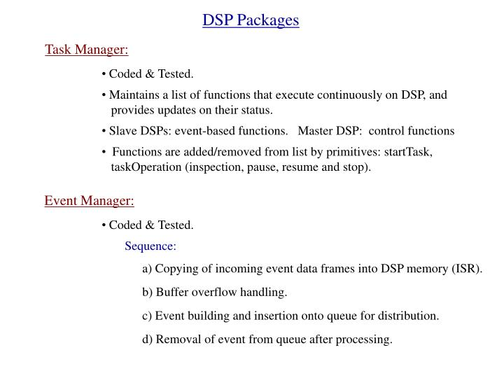 DSP Packages