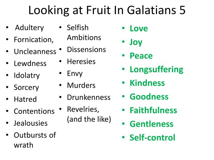 Looking at Fruit In Galatians 5