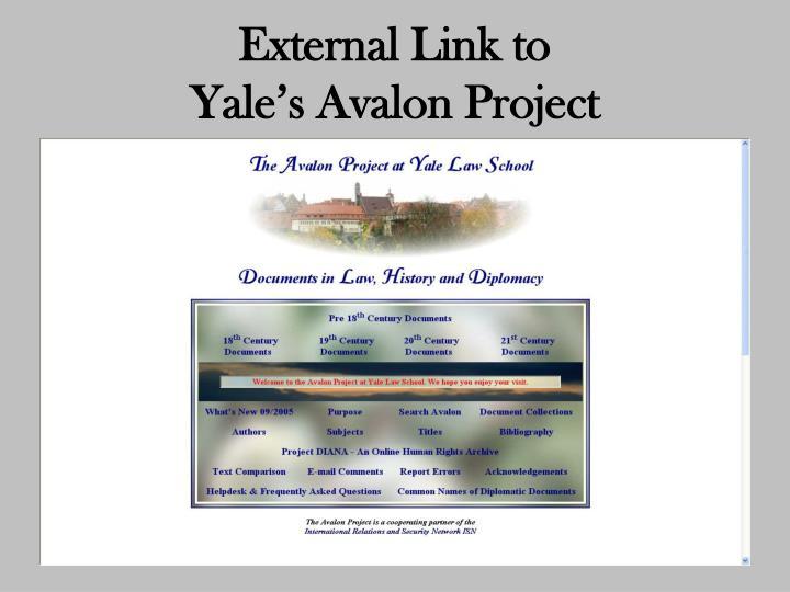 External Link to