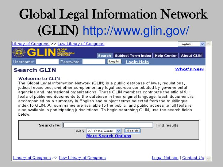 Global Legal Information Network (GLIN)