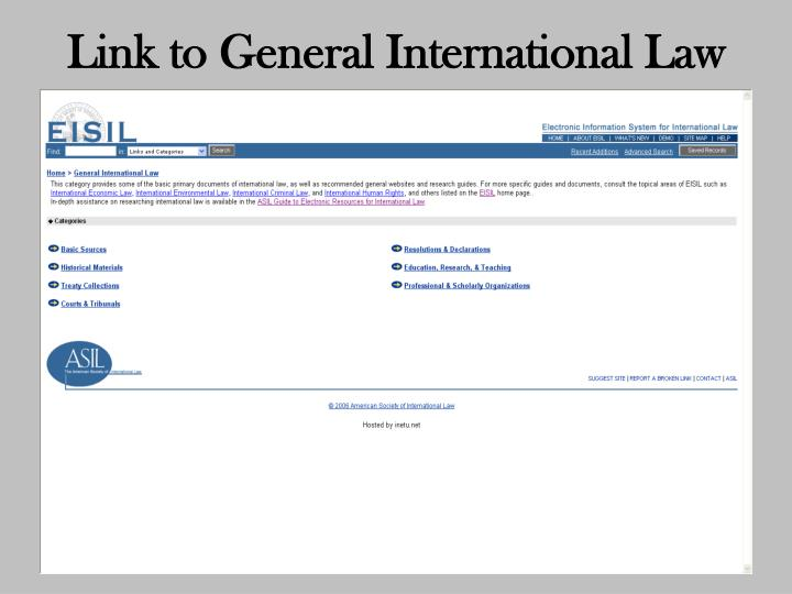 Link to General International Law