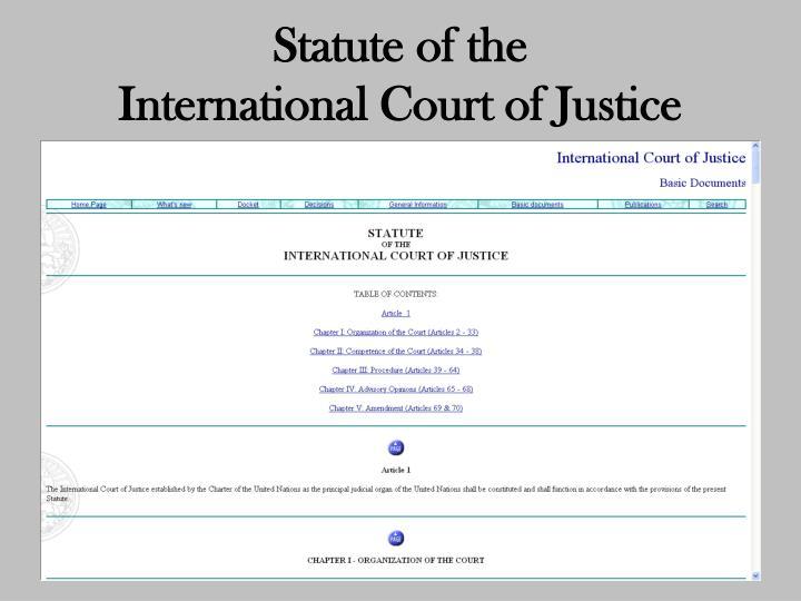 Statute of the