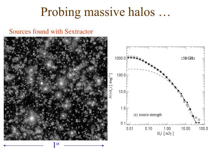 Probing massive halos …