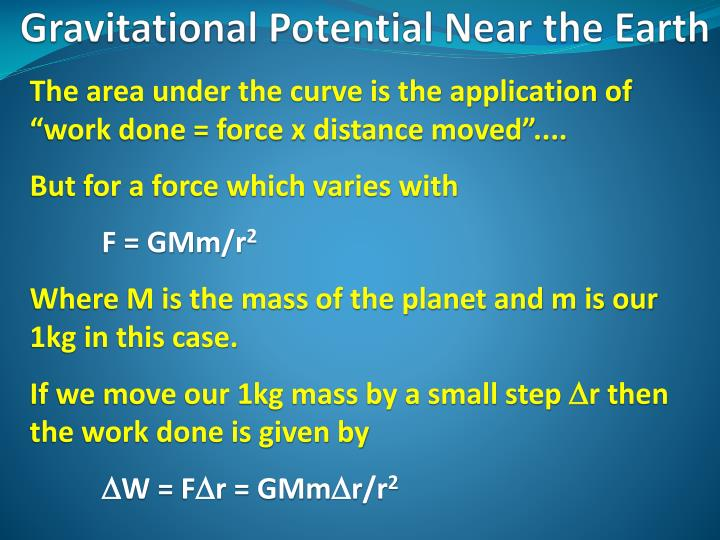 "The area under the curve is the application of ""work done = force x distance moved""...."