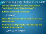 gravitational potential near the earth4