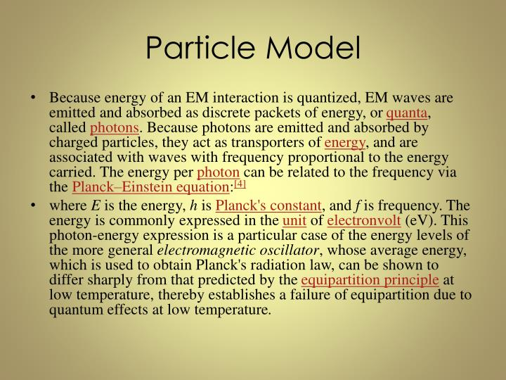 Particle Model