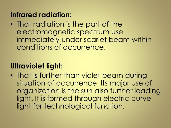 Infrared radiation: