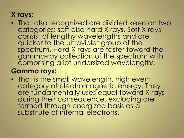 X rays: