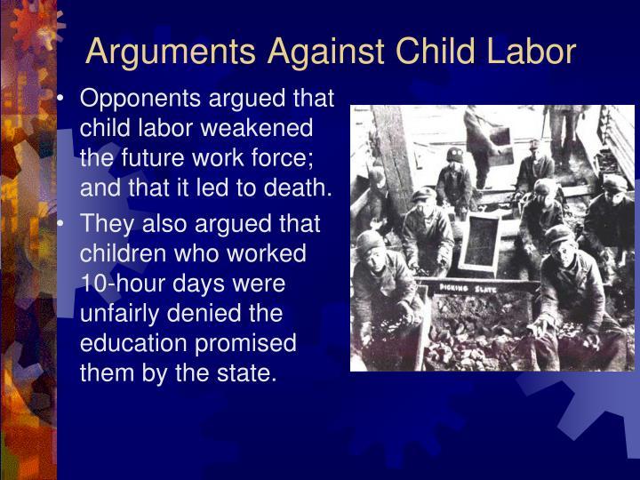 Arguments Against Child Labor