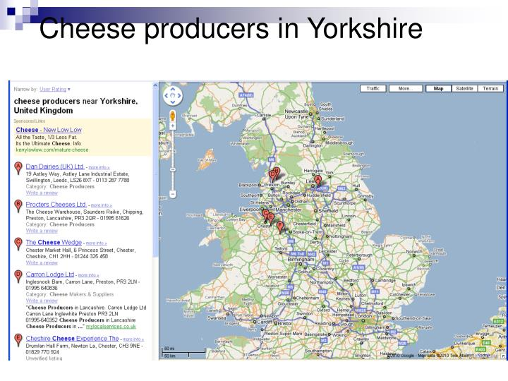 Cheese producers in Yorkshire