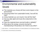 environmental and sustainability issues1