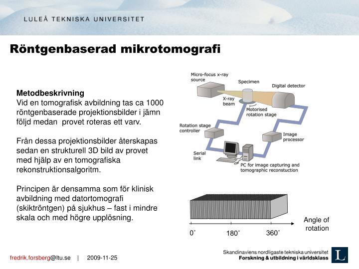 Röntgenbaserad mikrotomografi