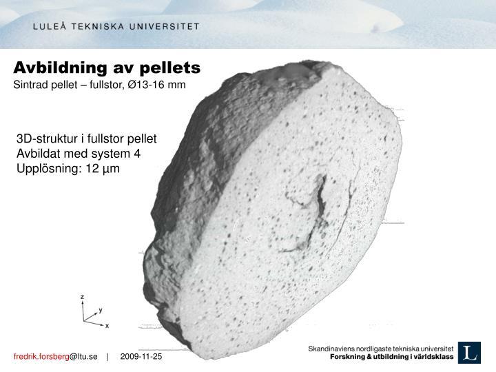 Avbildning av pellets