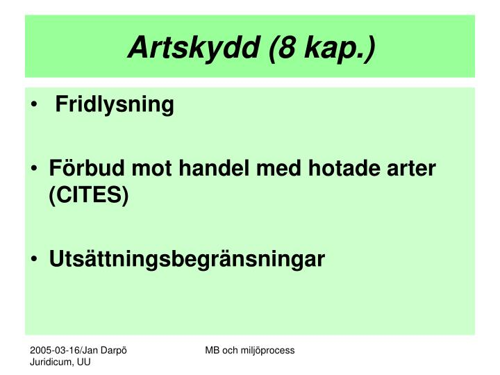 Artskydd (8 kap.)