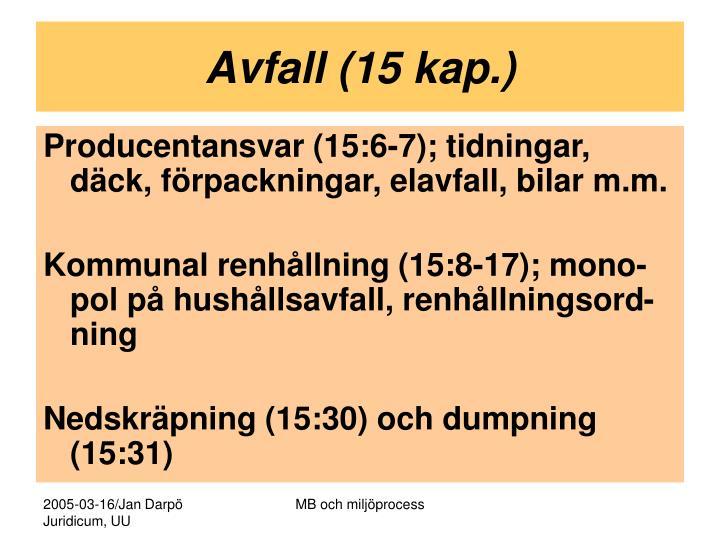 Avfall (15 kap.)