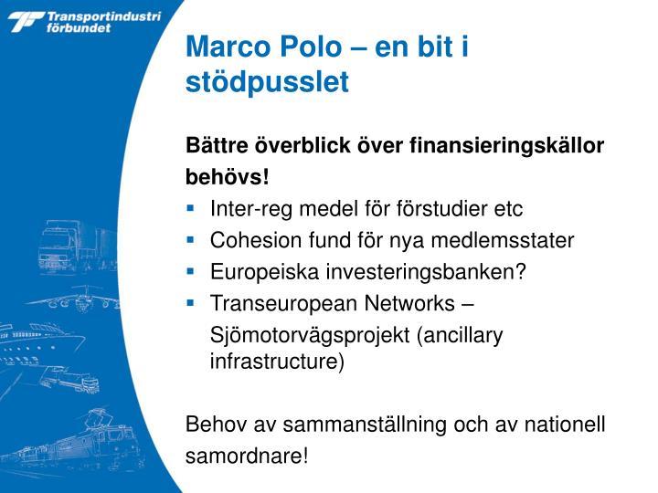 Marco Polo – en bit i stödpusslet