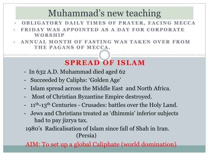 Muhammad's new teaching