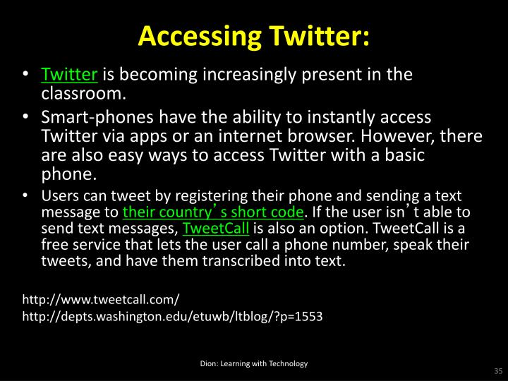 Accessing Twitter: