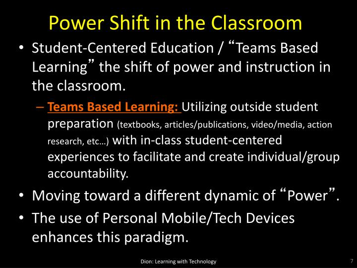 Power Shift in the Classroom