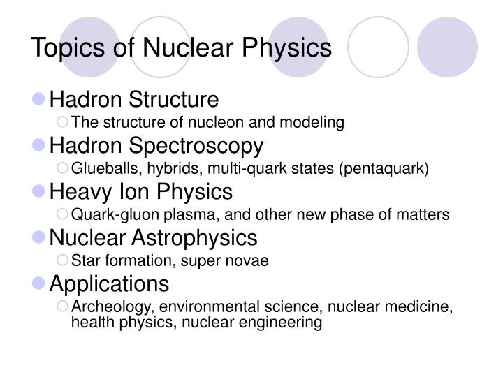 Topics of Nuclear Physics