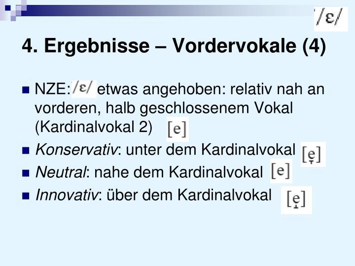 4. Ergebnisse – Vordervokale (4)