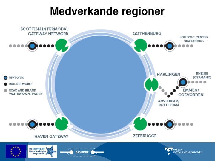 Medverkande regioner