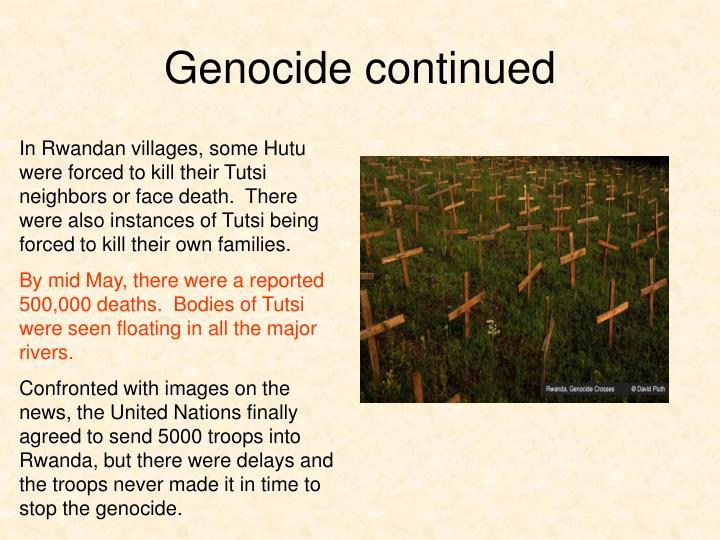 Genocide continued