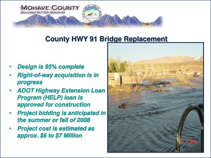 County HWY 91 Bridge Replacement