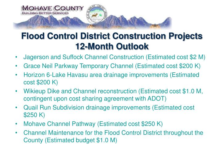Flood Control District Construction Projects