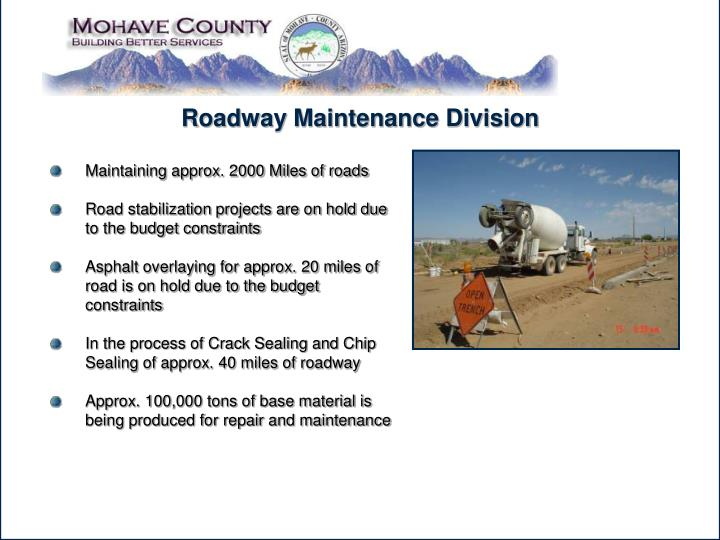 Roadway Maintenance Division
