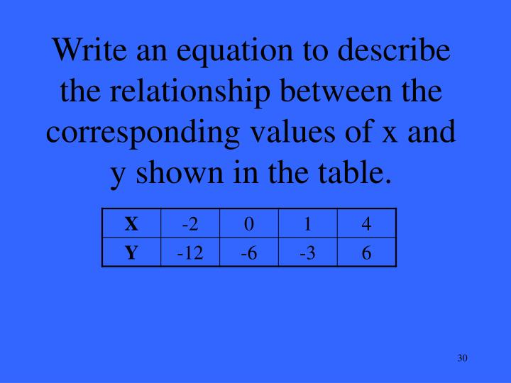 Ppt 10 pt powerpoint presentation id 3898634 for X and y table of values