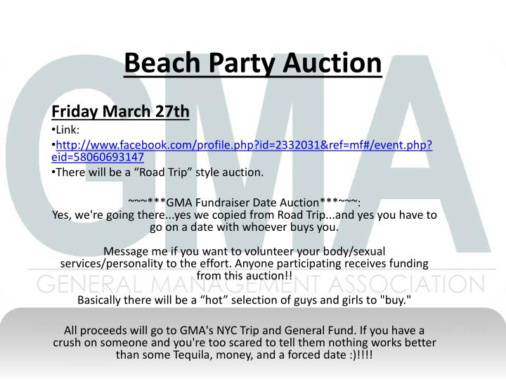 Beach Party Auction