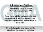 information on door