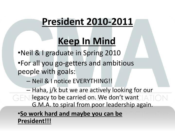 President 2010-2011