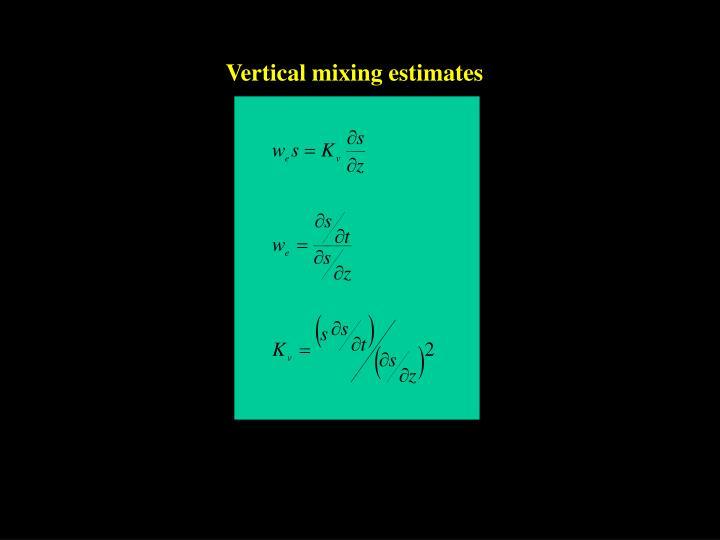 Vertical mixing estimates