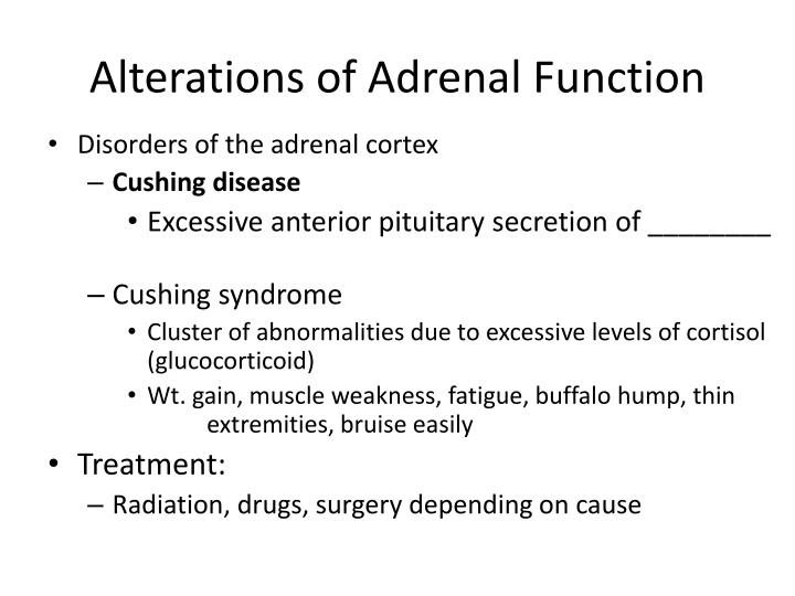 Alterations of Adrenal Function
